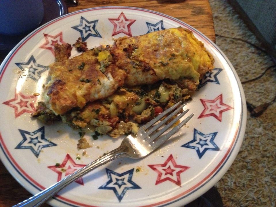 Omelet - Onion, Pesto, Salsa